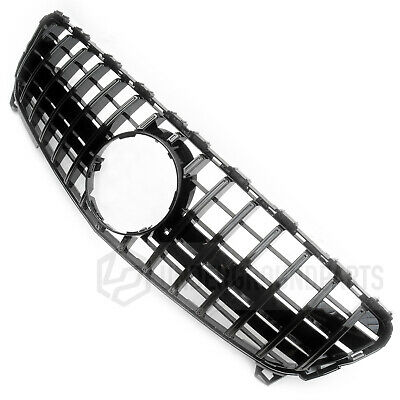All Black Gt Amg A45 Style Front Bumper Grille Mercedes A Class W176 2015-2017