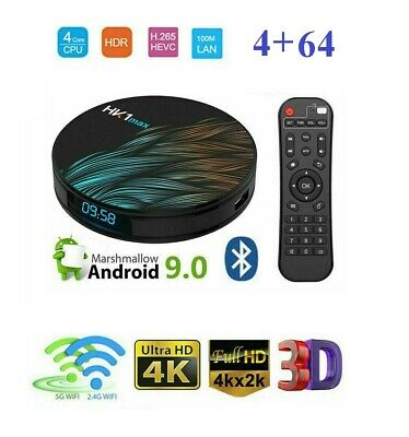 Tv Box Android 9.0 Iptv 4K 4Gb Ram 64 Rom Smart Decoder Full Hd 1080P Wifi Hk1