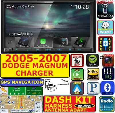 2005-07 Dodge Magnum Charger Gps Navigation Apple Carplay Android Auto