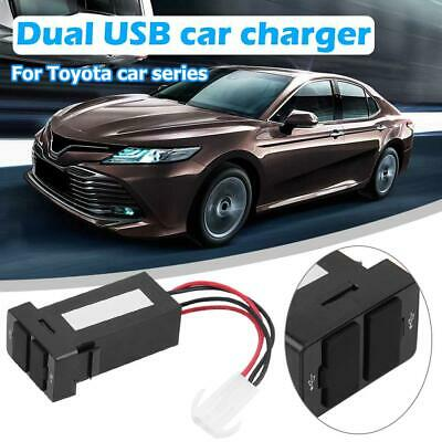 For Toyota Dual USB Car Charger USB Power Adapter Auto Dashboard Socket