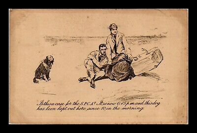 Dr Jim Stamps Couple And Dog Spca Topical Greetings United Kingdom Postcard