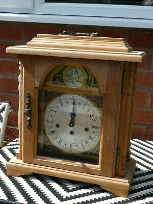 Tempus Fugit Westminster Chimes Emperor Germany  Mantel Clock. Working