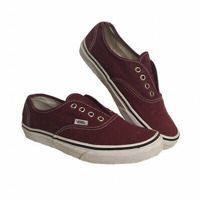 Vans Burgundy Plimsoll Trainers Size UK 5.5 Red Canvas Womens Girls