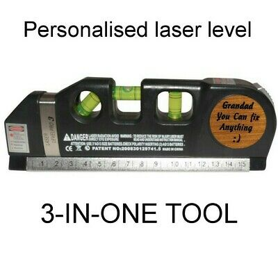 Birthday Present Personalised Tool fathers day gift for him Dad Grandad tape