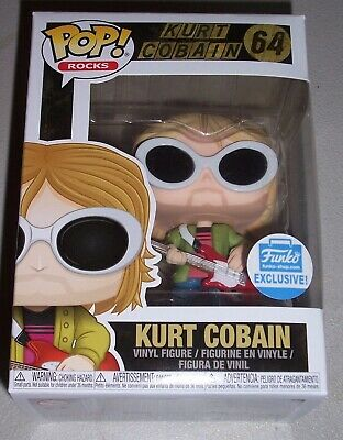 Funko Pop Rocks KURT COBAIN Funko Shop Exclusive #64! Brand New!