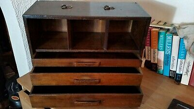 Antique Engineers / Coventry Watchmakers Cabinet ~ Chest ~ Draws