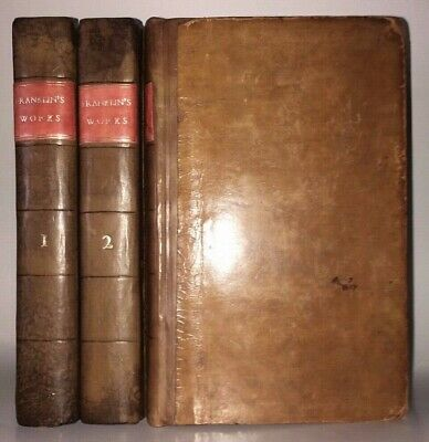 WORKS of BENJAMIN FRANKLIN! (FIRST EDITION 1806!) COMPLETE Leather AUTOBIOGRAPHY