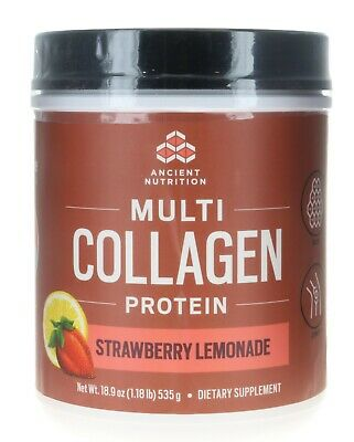 Ancient Nutrition  Dr Axe Multi COLLAGEN Protain  Strawberry Lemonade 1.8Lbs