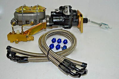 Hydroboost Brake Booster 4 Line High Pressure Hose Kit w// AN /& Pushlock Fittings