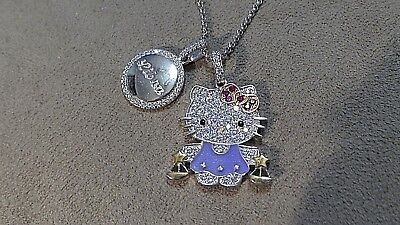 NWOT QVC Hello Kitty Sterling CZ Year of Hello LIBRA Zodiac Necklace - RETIRED!!