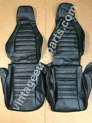 New Black Perforated Seat Covers fits Porsche 911 1974-1977