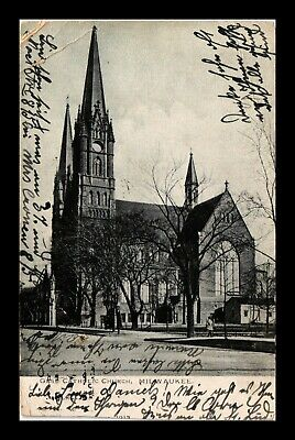 Dr Jim Stamps Us Gesu Catholic Church Milwaukee Wisconsin Exterior View Postcard