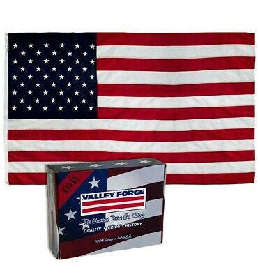 VALLEY FORGE US AMERICAN FLAG 3'x5' COMMERCIAL GRADE NYLON. EMBROIDERED STARS