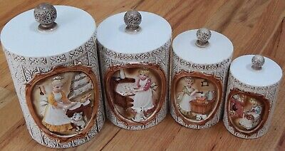 The Pioneer Woman Canister Set Vintage Geo Countertop 3