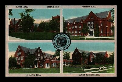 Dr Jim Stamps Us Milwaukee Downer College Wisconsin Four Views Postcard