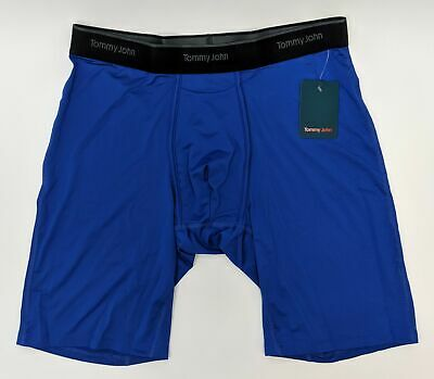 Tommy John Go Anywhere Boxer Brief Men's Size L in Nautical Blue MSBXZ06PO1