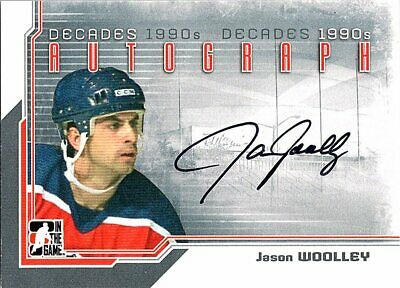 2013-14 ITG Decades 1990s Autographs #AJW Jason Woolley