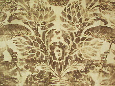 """Schumacher PALAZZO CINESE Linen Cotton Fabric Remnant 25"""" x 27"""" Italy"""
