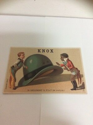 Knox The Hatter's Victorian Trade Card