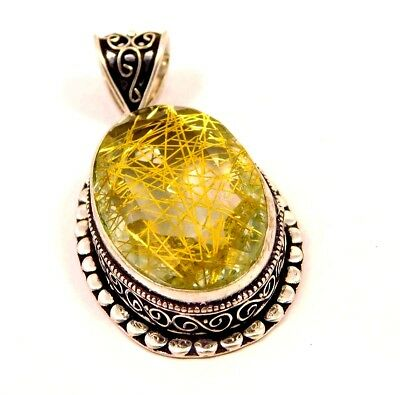 Black Needle Rutile .925 Silver Awesome Carving Pendants Jewelry JC6626-JC6648