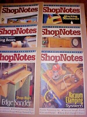 SHOP NOTES MAGAZINE TIPS-TOOLS-TECHNIQUES Vol. 7 - 6 Issues 37-42 1998Woodsmith