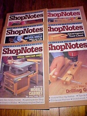 SHOP NOTES MAGAZINE TIPS-TOOLS-TECHNIQUES Vol. 5 - 6 Issues 25-30 1996Woodsmith