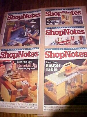 SHOP NOTES MAGAZINE TIPS-TOOLS-TECHNIQUES Vol. 8 - 5 Issues 43-47 1999Woodsmith