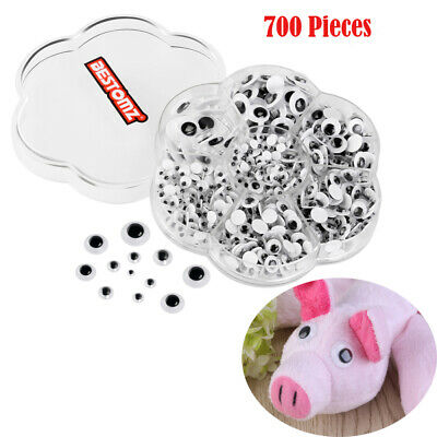 BESTOMZ 700pcs Self-adhesive Googly Eyes DIY Scrapbooking Crafts Toy Accessories