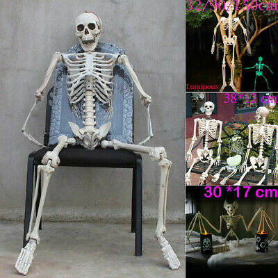 150cm Halloween Luminous Hanging Skeleton Scary Props Outdoor Party Decorations