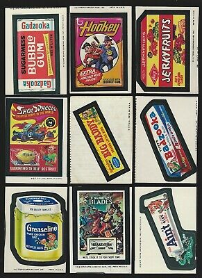 Topps Wacky Packages Lot of 18 Miscuts