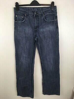 Helix Boys Size 18 Distressed Denim Slim Boot Blue Jeans