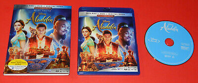 Aladdin  (Will Smith) - BLURAY / CASE / SLEEVE / - Mint Cond As Pictured