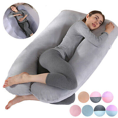Full Body Pregnancy Pillow U Shape Maternity Support Soft Protection Pillowcase