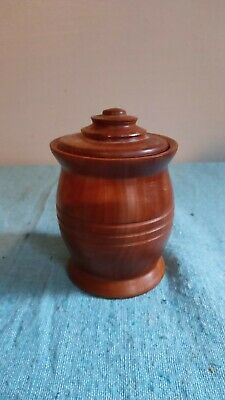 Small Wooden Turned Treen Urn Shaped Pot/Box with Lid - Pre-owned