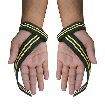 Padded Weight Lifting Strap Gym Training Hand Bar Wrist Support Gloves