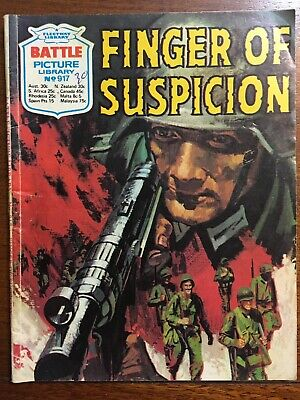 """Fleetway Battle Picture Library Comic # 917 From 1975 """"Finger of Suspicion""""  VG"""