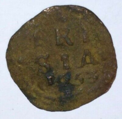 Spanish / Netherlands Provincial Pirate 1653 Duit West Frisia Very Rare
