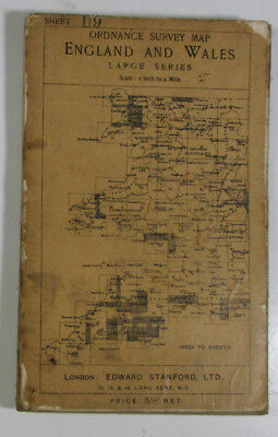 1911 Old OS Ordnance Survey Third Edition One-Inch Map North Devon Large Sheet
