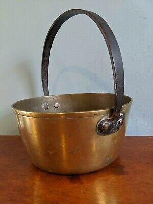 Good Quality Large Heavy 3Kg+ Brass Jam Pan Cast Iron Handle