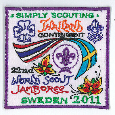 2011 World Scout Jamboree THAILAND / THAI SCOUTS OFFICIAL Contingent Patch (P)