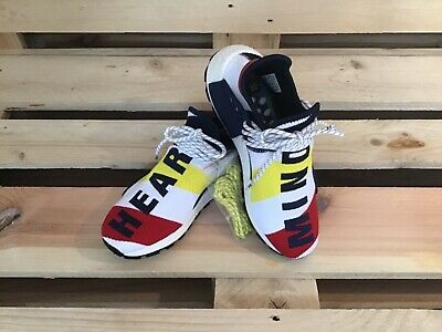 ADIDAS PHARRELL WILLIAMS BBC HU NMD HUMAN RACE Gr.38 46,5 solar BB9544 Sneaker