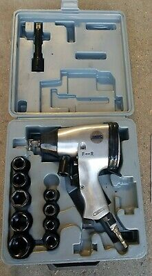 ABAC Professional Reversible Air Impact Wrench 1/2 + Impact Socket Set