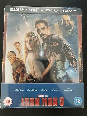 Steelbook blu ray Iron Man 3 édition lenticulaire 4k