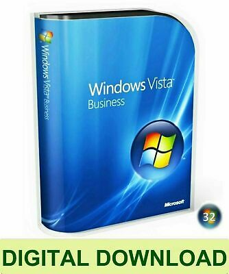 Windows Vista Business 32 Bit ReInstall Repair Recovery ISO Digital Download