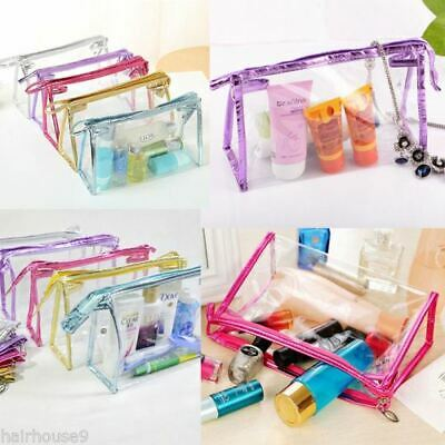 Clear Make Up Bag PVC Travel Cosmetic Toiletry Organizer Zipped Bag Pouch