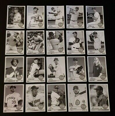 2019 TOPPS ARCHIVES SNAPSHOTS BLACK & WHITE PARALLEL You Pick Complete Your Set