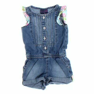 NWT OSHKOSH Girls Size 5T Outfit 1-Pc Romper Blue Ice Cotton Candy Genuine Kids