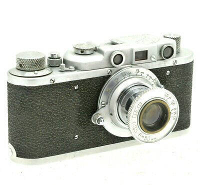Vintage Fed 1 Soviet Rangefinder Camera with 50mm f3.5 & Case