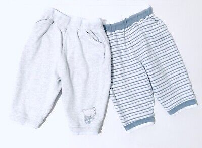Next Baby Boys Jogging Bottoms Size Newborn Grey And Blue Stripes