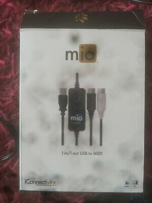 iConnectivity midi mio 1-in 1-out USB To MIDI Interface for Mac and PC